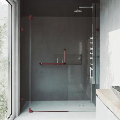 Vigo Pirouette 42 To 48 In X 72 In Frameless Pivot Shower Door