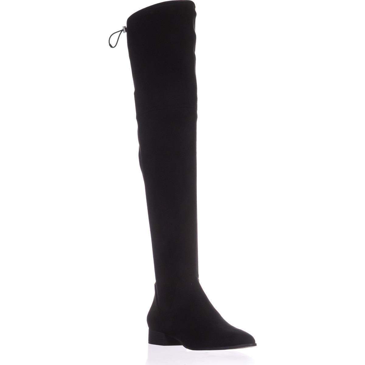 DKNY Tyra Wide Calf Over The Knee Boots, Black, 8 US / 38.5 EU