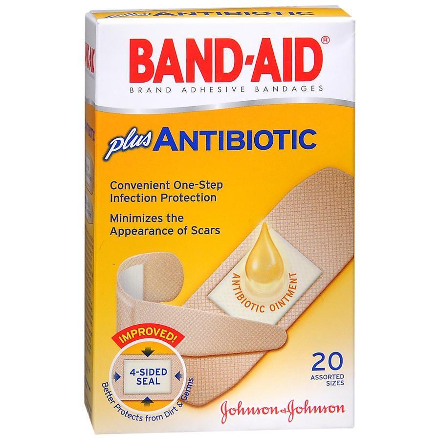 Bandaid plus antibiotic adhesive bandages assorted sizes
