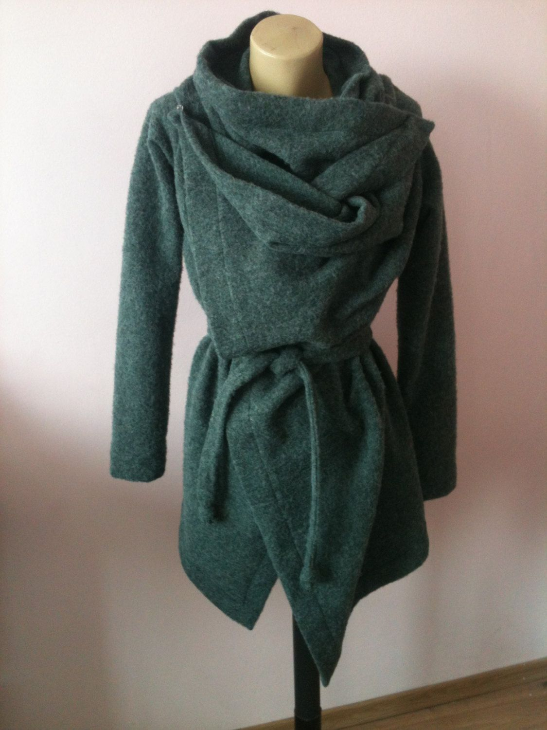 Wool wrap coat-cardigan size S M by StudioMariya on Etsy Me  if I have a  schematic or can see it open 328b0aa56