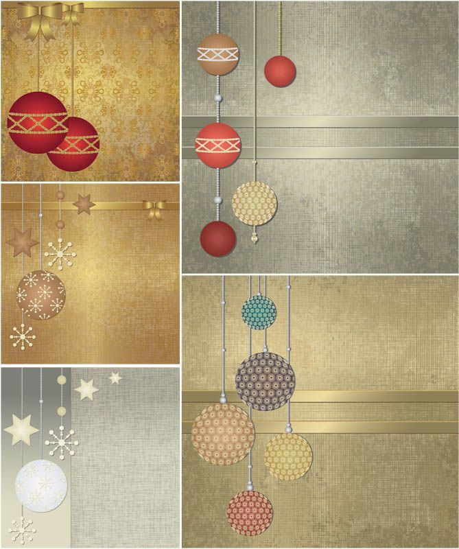Decorated Christmas Vintage Backgrounds Vector