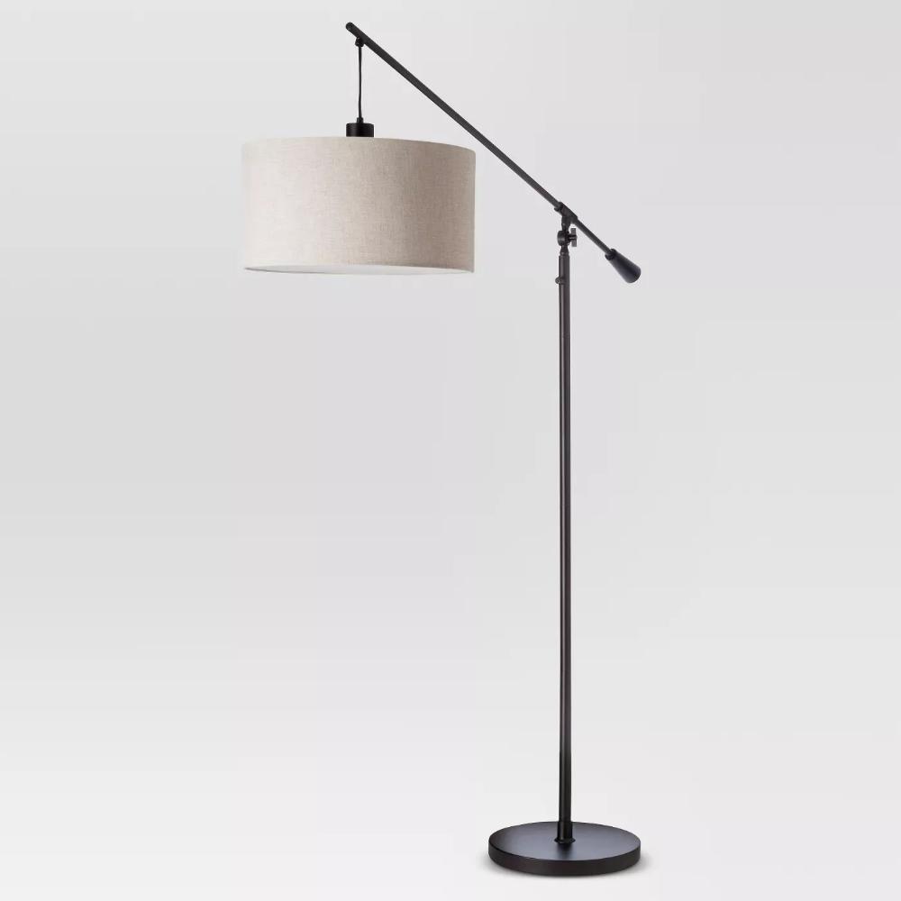 Cantilever Drop Pendant Floor Lamp Antique Brown