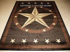8x10 Rustic Cowboy Texas Lone Star Western Decor Black Brown Decor Area Rug Western Decor Western Bedroom Decor Area Rug Decor