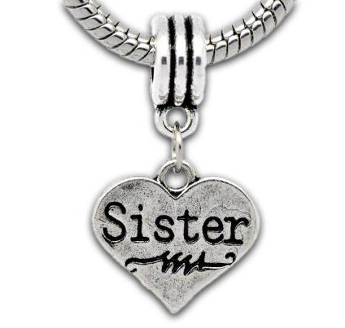 Pandora Jewelry Sister Charm: Truly Charming® Silver Sister Dangle Charm Will Fit