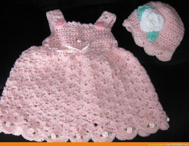 Free Baby Girl Crochet Dress | Babies Frocks, Hand Made Woven Dress ...