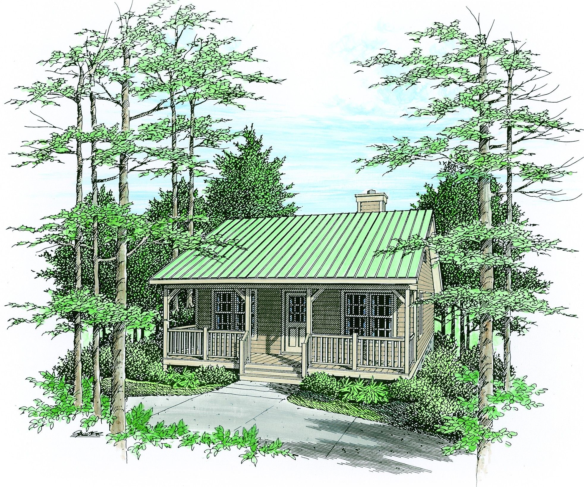 Tiny homes cottage country - Tiny Houses Cozy Country Cabin 2253sl Cottage Country Narrow Lot 1st Floor Master