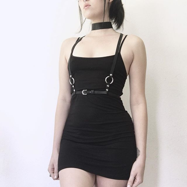 Lambskin choker   leatjer o-ring harness at Lbvintage.storenvy.com ... 83dadd7c2