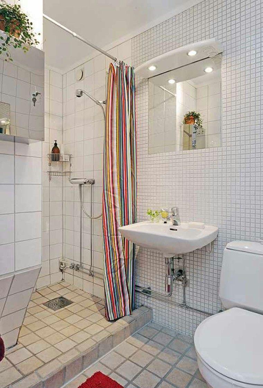 Baños pequeños con ducha - 38 diseños de moda