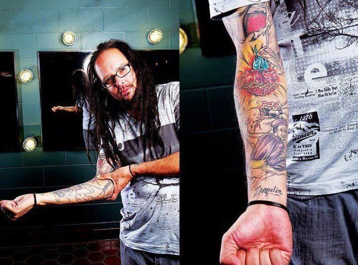 Right lower arm Right upper arm  tattoo