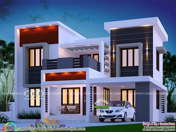 Awesome looking modern sq ft home design model house plan elevation also bedroom beautiful with free floor kerala rh pinterest