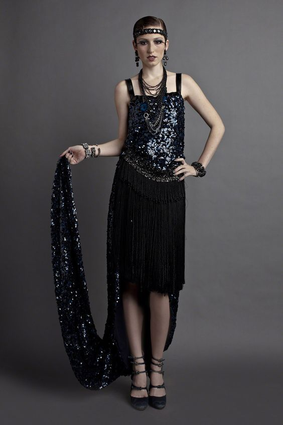 Мода 20-30-х годов (49 фото)  гангстерский стиль Ретро в одежде для женщин  20 века fb72f4be582