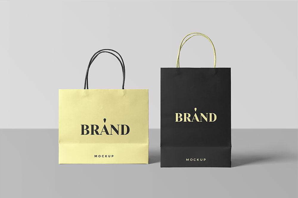 Download Free Paper Shopping Bag Mockup Mockuptree Bag Mockup Graphic Design Freebies Design Freebie