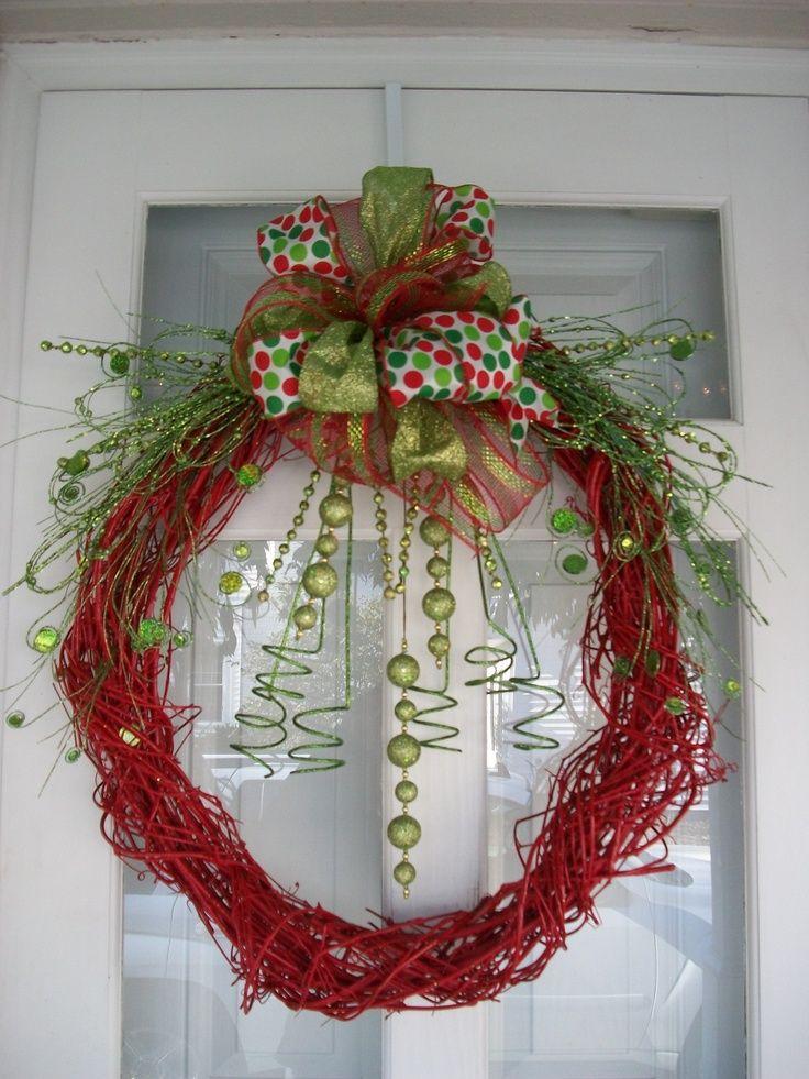 christmas wreath ideas grapevine wreath christmas ideas