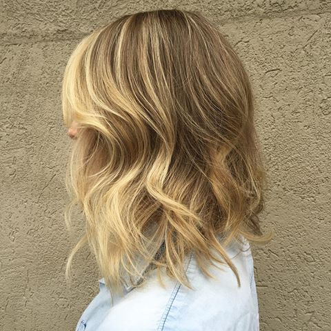 Buttery + honey tones.  .  .  .  .  .  #hair #haircolor #haircut #longbob #bob #lob #blonde #bronde #balayage #highlights #babylights #ombre #colormelt #wella #goldwell #wavyhair #beachhair #texture #jillianshair #behindthechair #modernsalon #hairpainting #instahair #hairposts #cthair #dimensionalcolor #hairgoals #hairoftheday #hairstyle