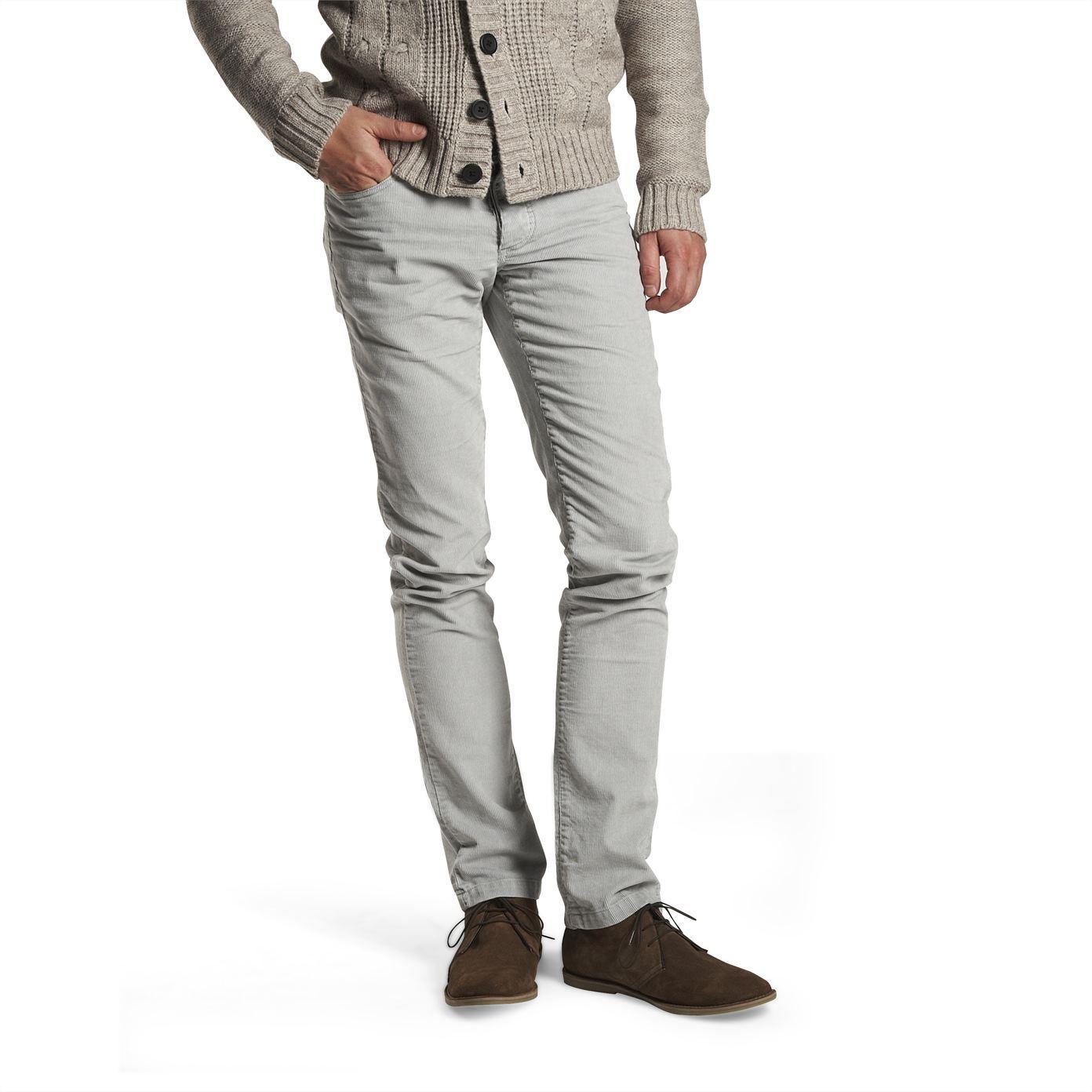 pantalon velours slim gris clair homme la mode homme sur. Black Bedroom Furniture Sets. Home Design Ideas