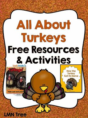 All about Turkeys: Free Resources and Free Reading Activity Packet
