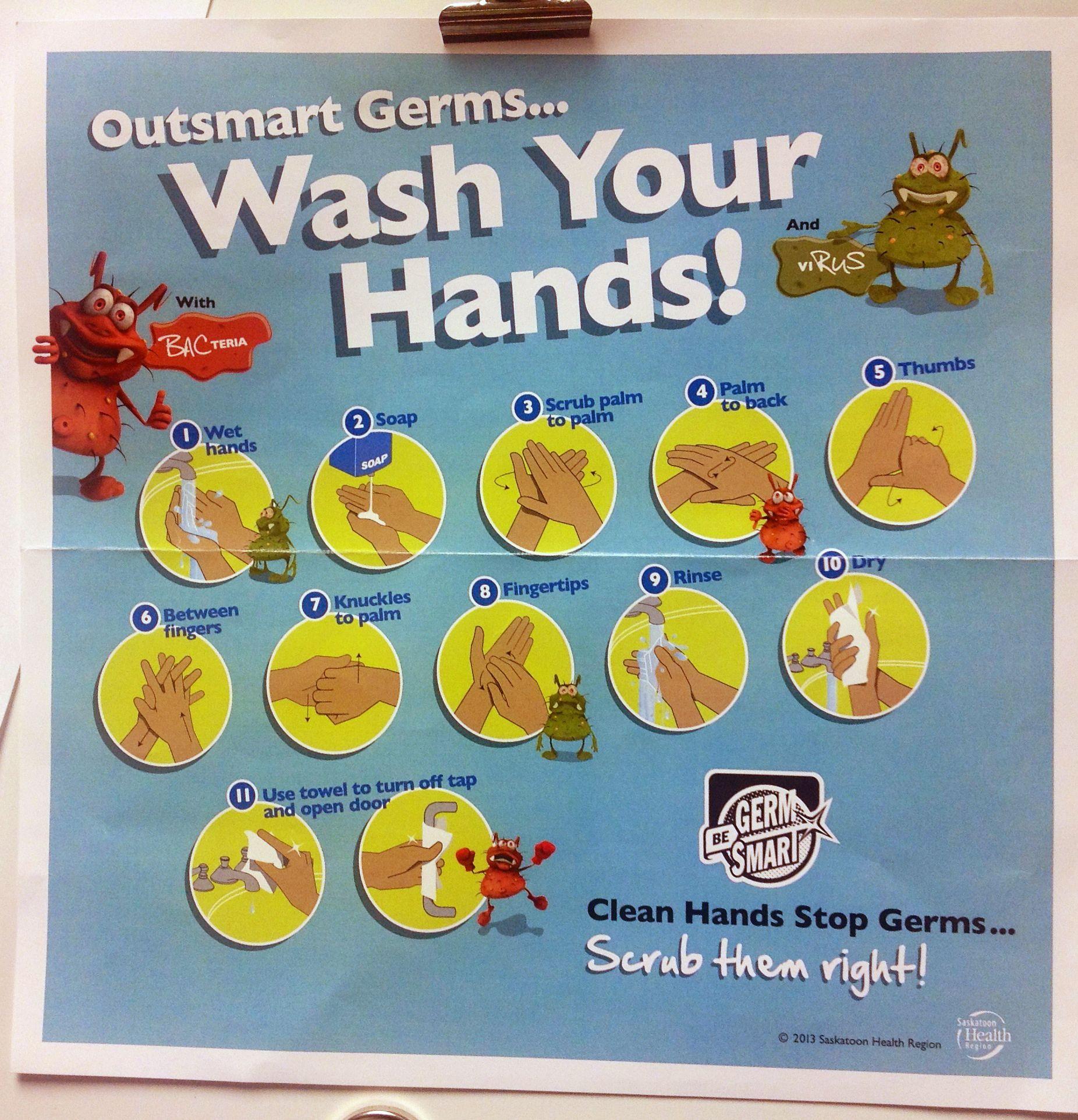 School WASH poster. Saskatoon Health Region. | Health & Hygiene ...
