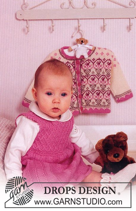 Dress and socks with pattern in Alpaca. Size 1-24 mos. | Kids Knit ...
