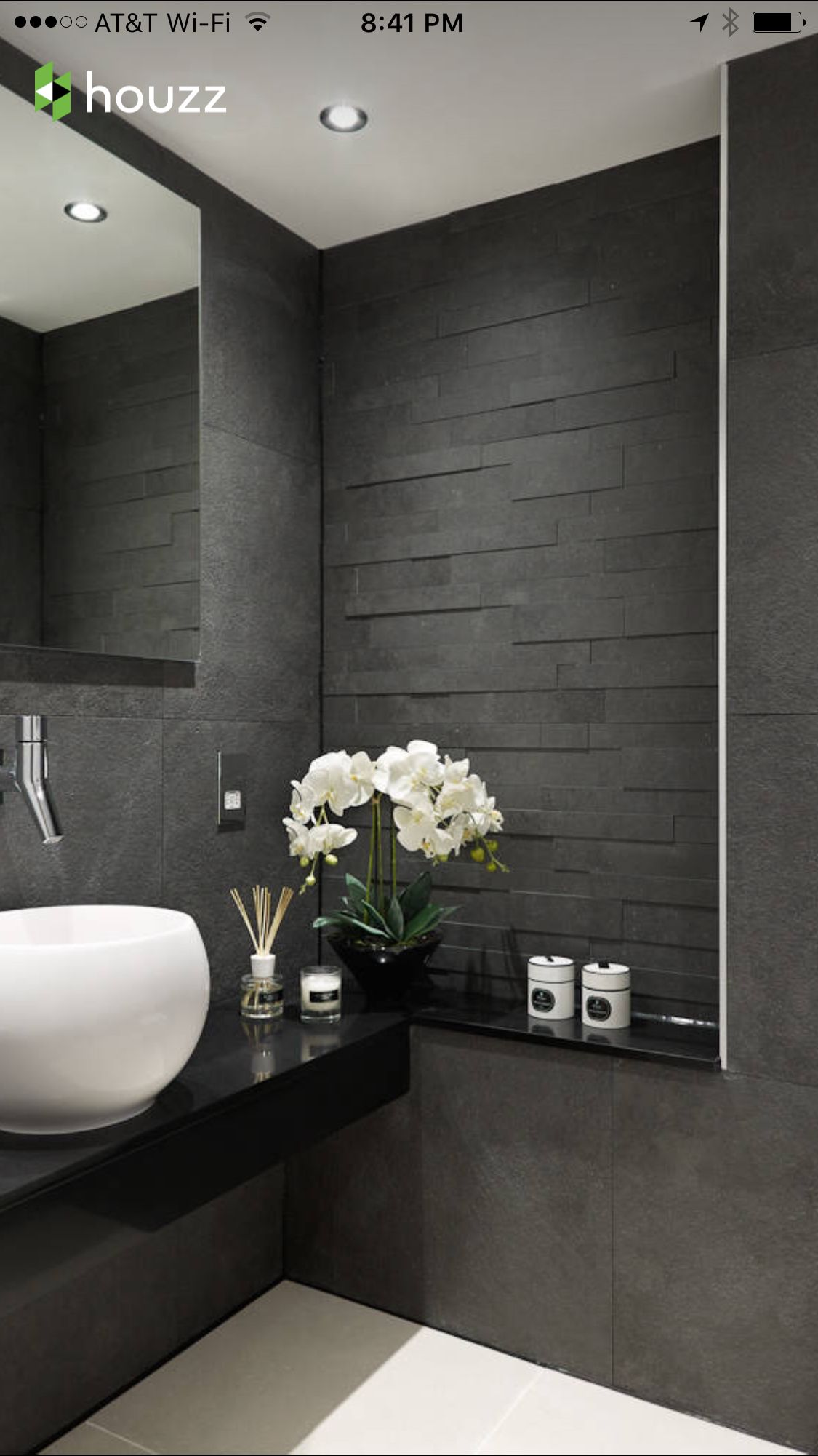 Spa Powder Room Silver Bathroombathroom Greyblack Bathroomsmodern Bathroomssmall