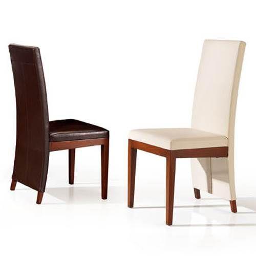 silla de comedor realizada en madera de teca con respaldo