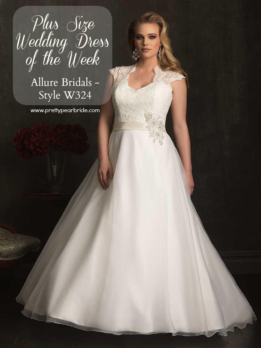 Plus Size Wedding Dress Of The Week Allure Bridal Style W324 Pretty Pear Bride Magazine