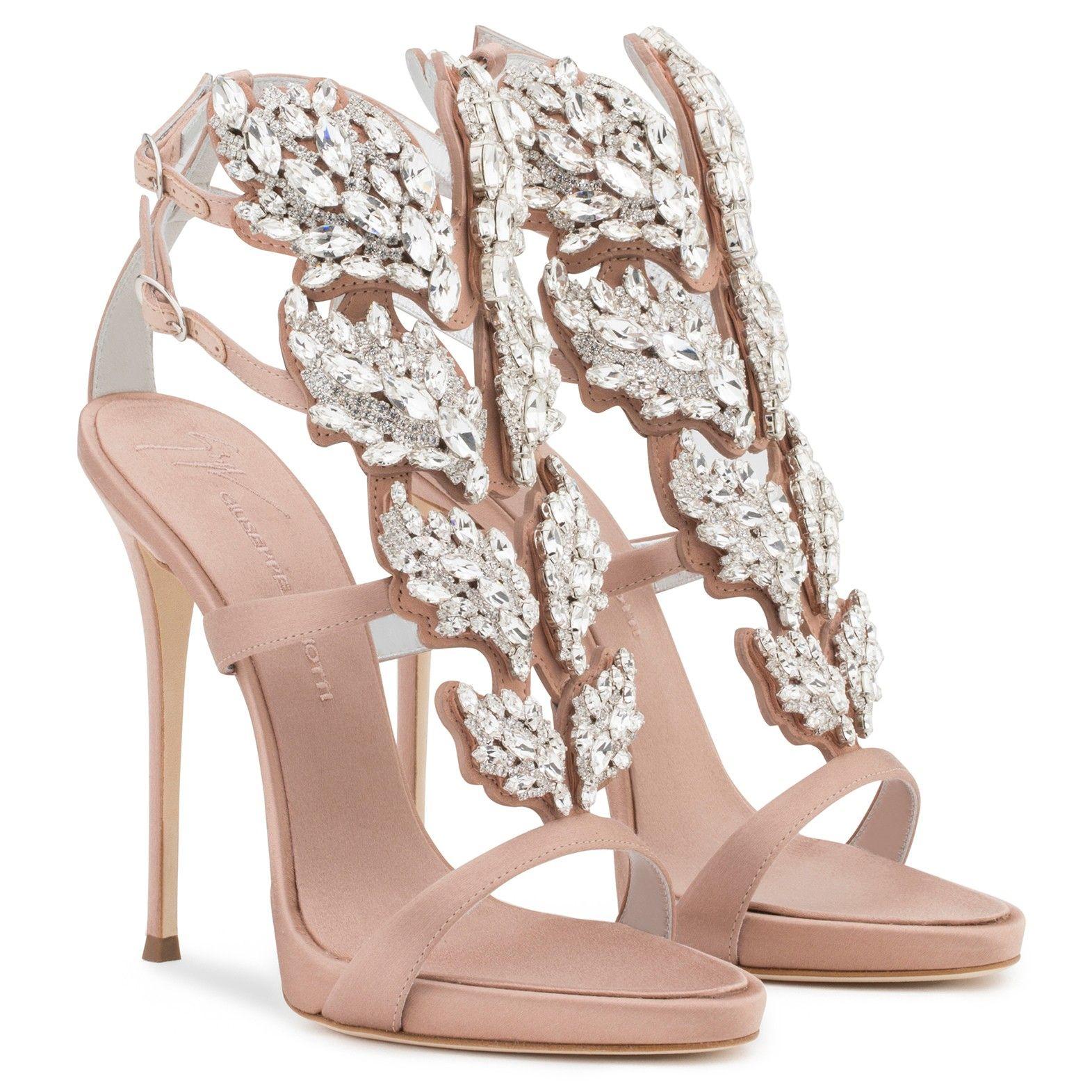 Giuseppe ZanottiSuede 'Cruel' sandal with crystals CRUEL SPARKLE y9wyBgCl