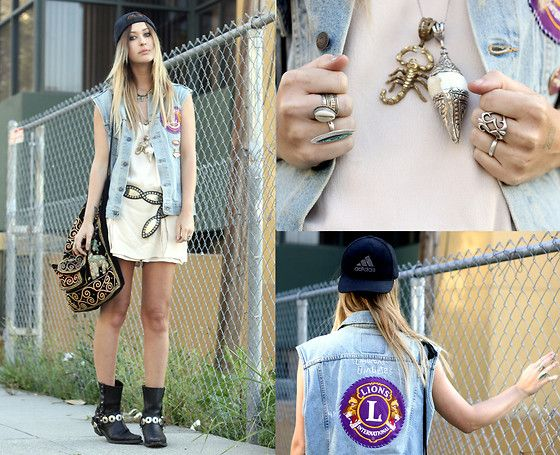 Vintage Jewelry, Vintage Vest, Vintage Romper, Vintage Belt, Harley Davidson Boots