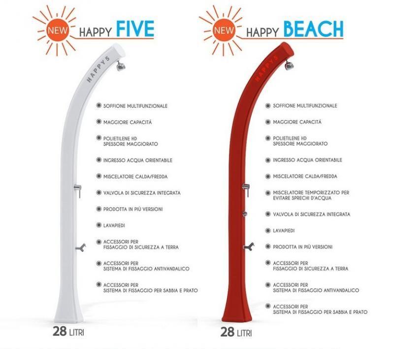 Doccia da giardino Happy Beach 28 Litri Doccia da