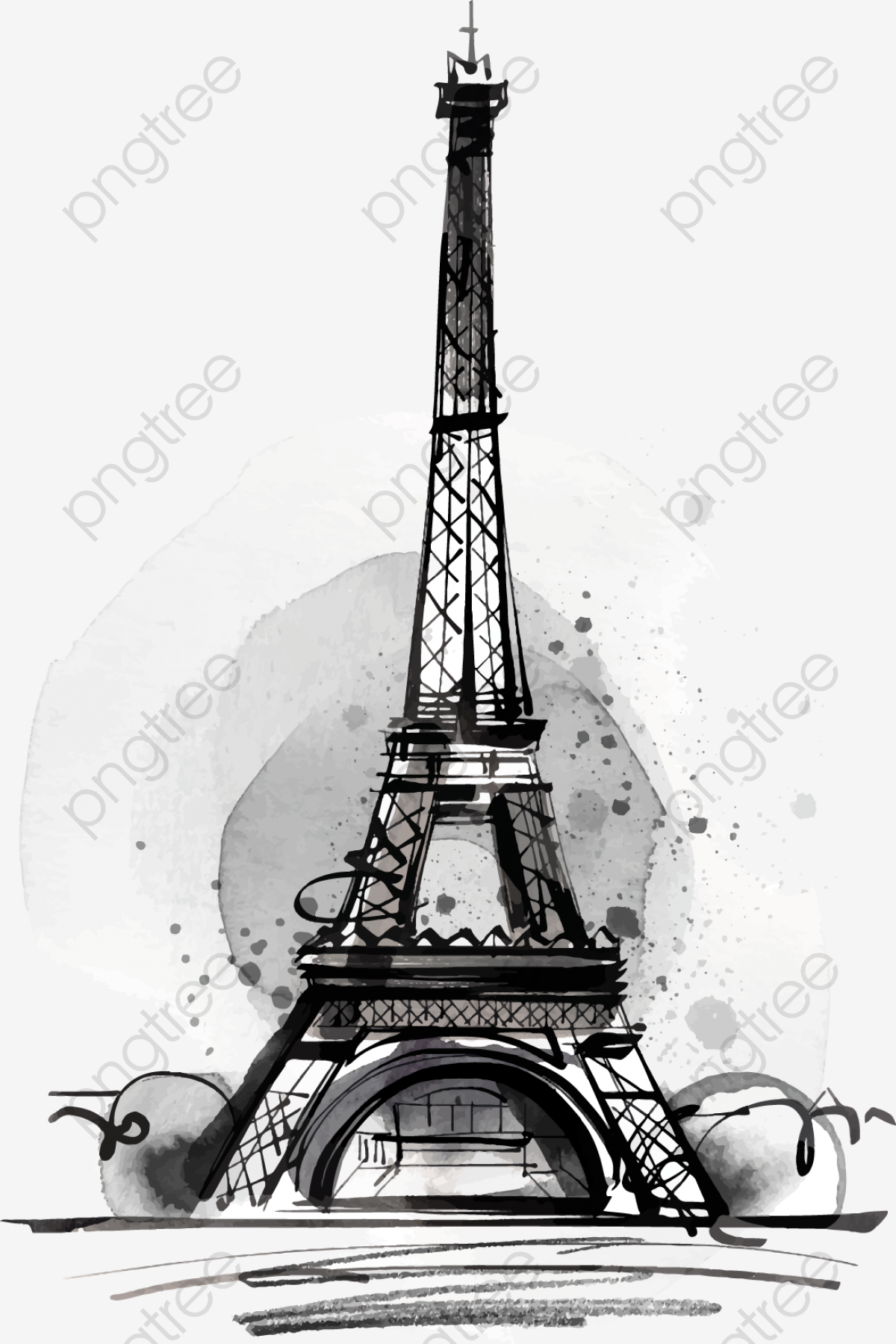Black Drawing Eiffel Tower Tower Clipart Decoration Vector Png Transparent Clipart Image And Psd File For Free Download Eiffel Tower Drawing Eiffel Tower Eiffel