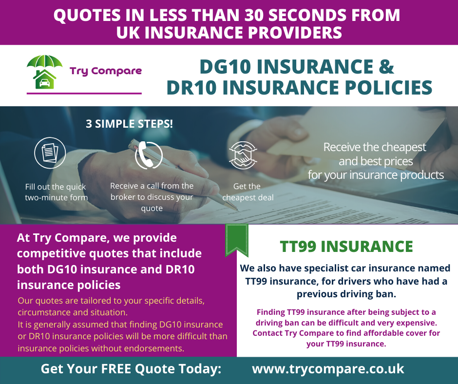 DG10 insurance & DR10 insurance policies Try Compare in