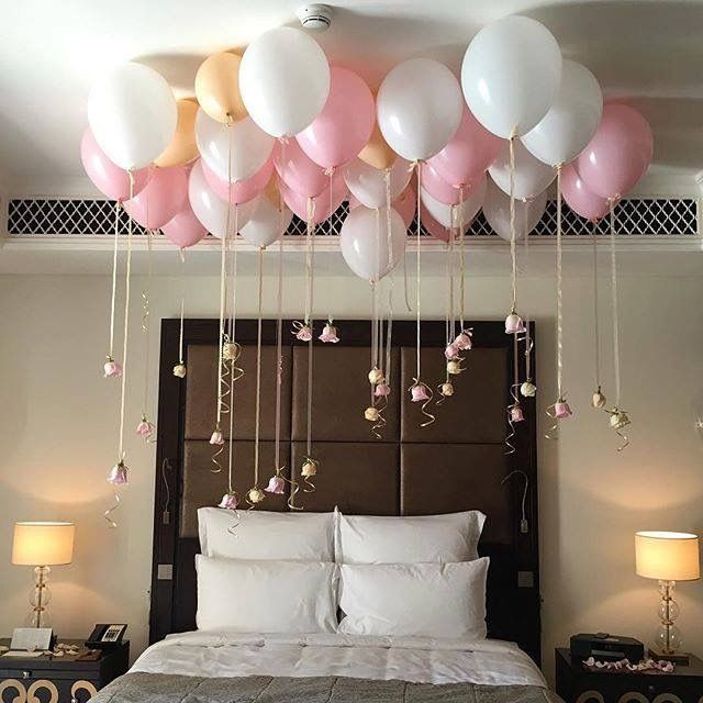 Image De Balloons Bed And Pink