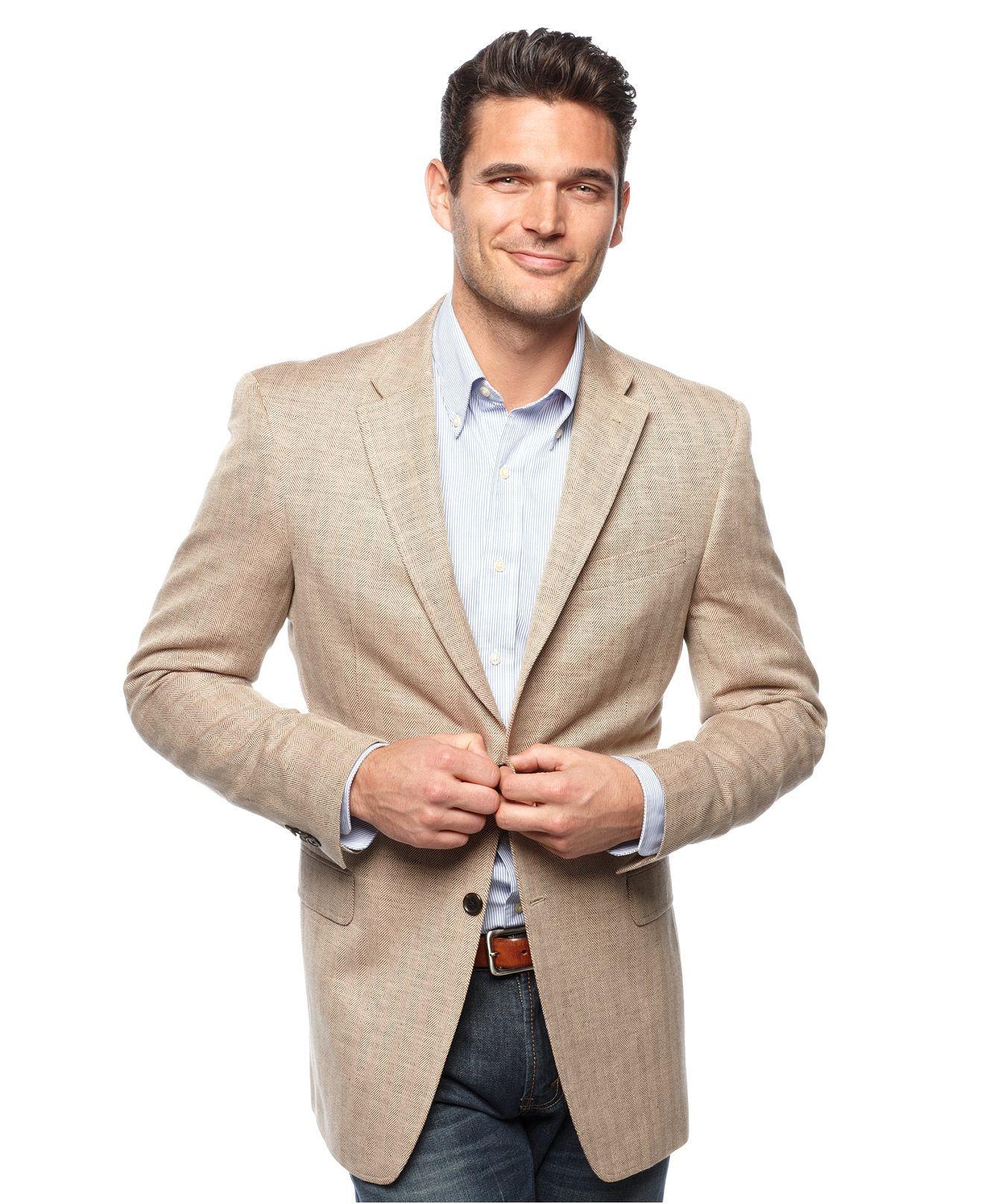 Tommy Hilfiger Jacket Tan Herringbone Slim Fit Blazer Mens Blazers Sport Coats Macy S Slim Fit Blazers Tommy Hilfiger Jackets Blazer Outfit Men [ 1616 x 1320 Pixel ]