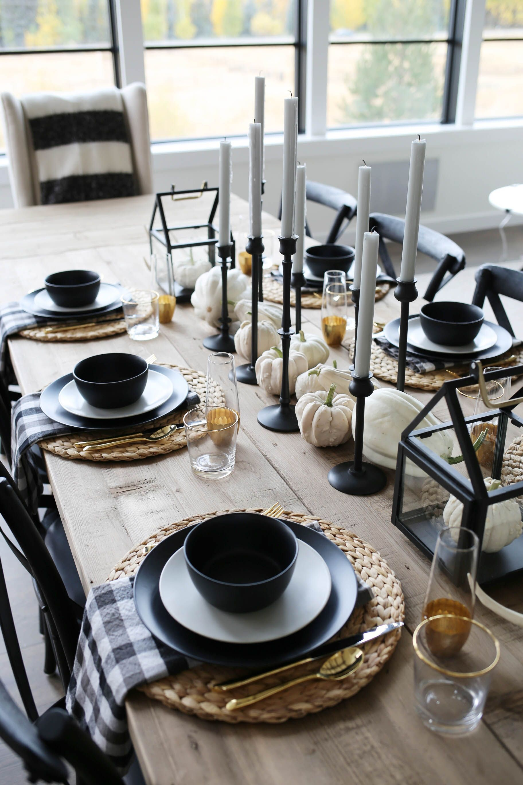 Modern Farmhouse Fall Tablescape (With images)   Fall ...