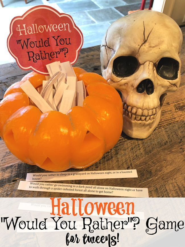 Halloween Would You Rather Game for Tweens (free printable