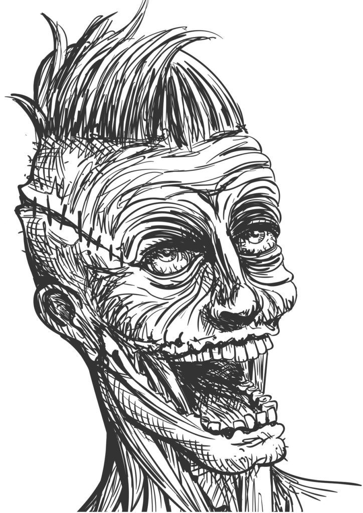 Horror Alley - Freaks Faces Coloring Book - Home of ...