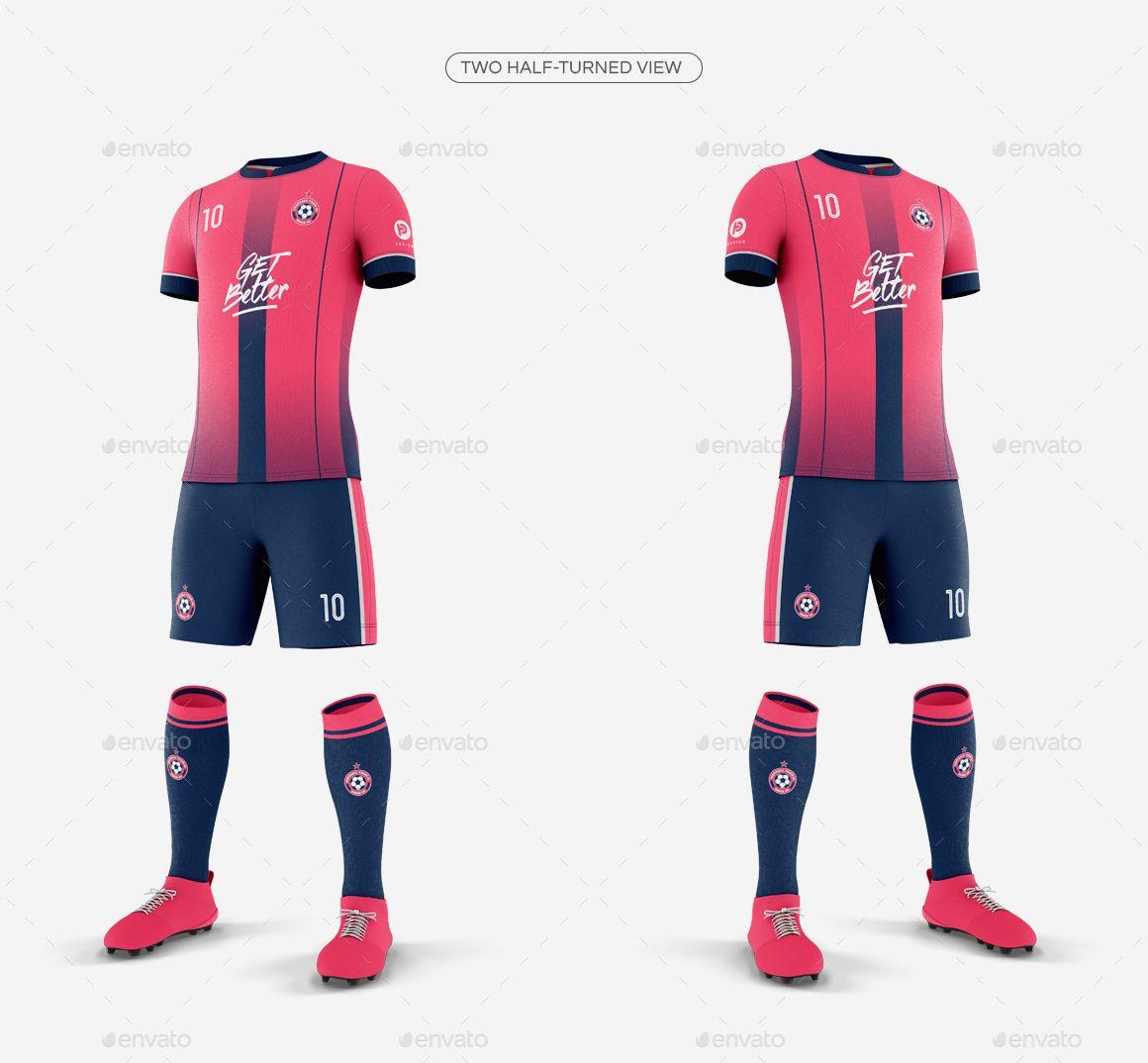 Download Men S Full Soccer Team Kit Mockup V4 Soccer Shirts Designs Soccer Shirts Shirt Mockup