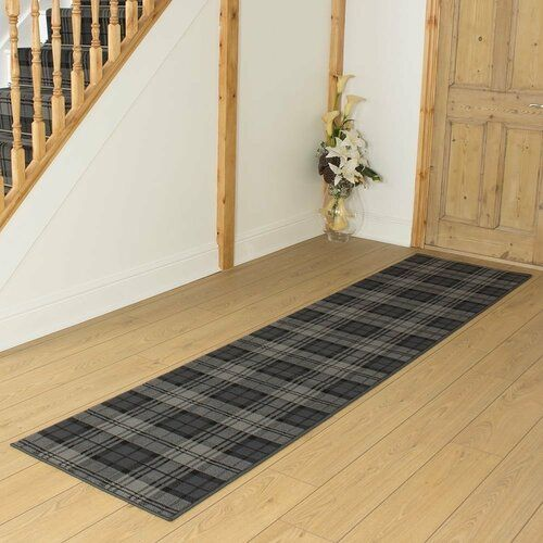 Photo of Aryanna Tufted Black Hallway Runner Rug Alpen Home Rug Size: Runner 600cm x 80cm
