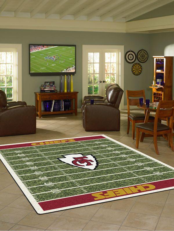 Kansas City Chiefs Rug NFL Football Field   Sports Rugs   Pinterest