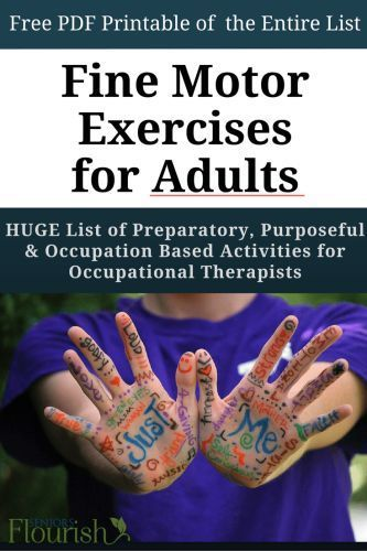 Fine Motor Skills for Adults - The Ultimate List Motor activities