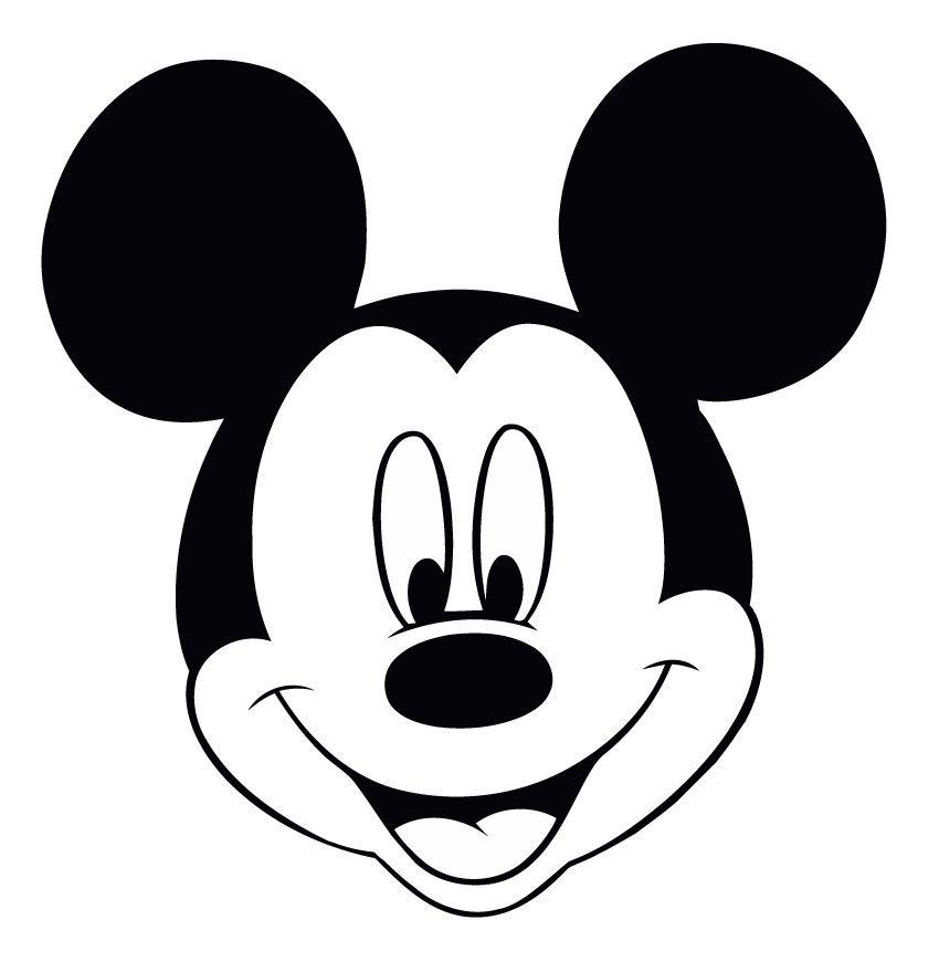 Disney Coloring Page   Mickey Mouse Head | Plott a lot