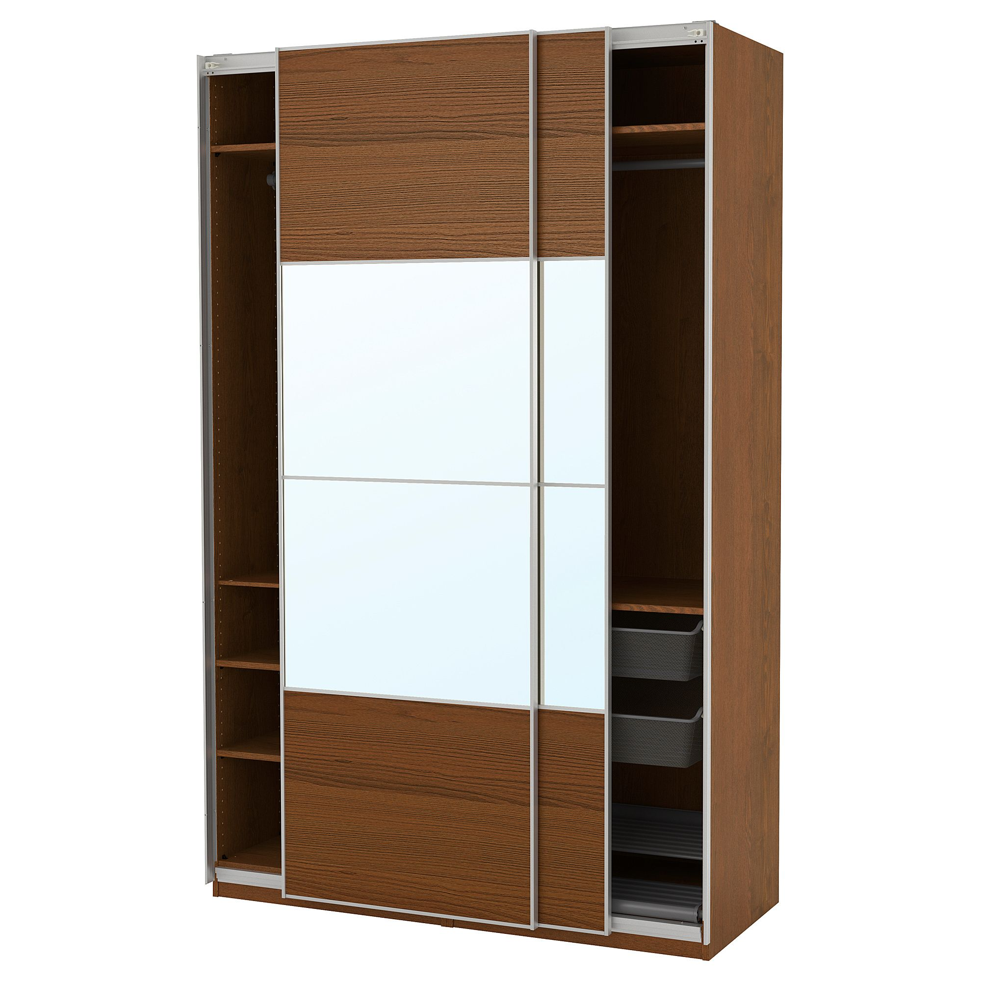 IKEA PAX Wardrobe brown stained ash effect, Auli Ilseng
