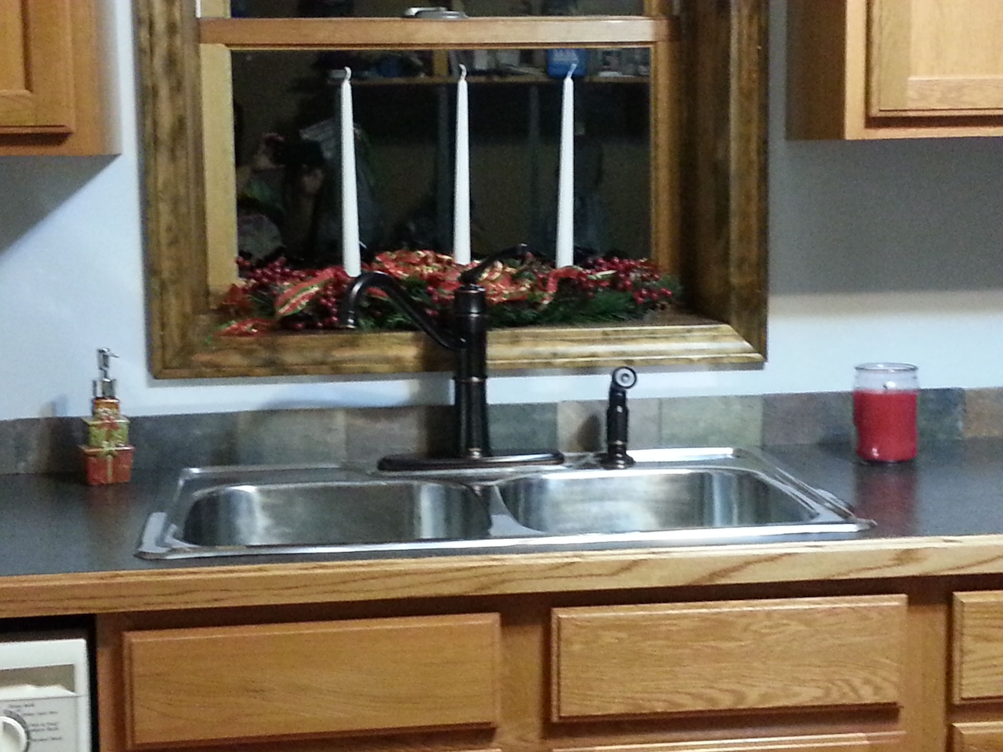 My Kitchen Sink And Countermolen Faucet Slate Tyle Backsplash Glamorous Kitchen Sink Backsplash Decorating Inspiration