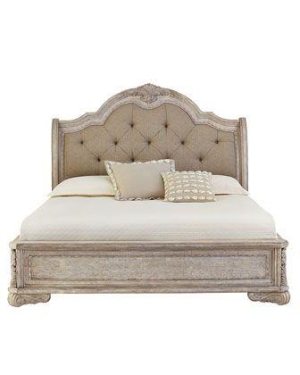 Camilla Queen Bed Queen Sleigh Bed Bed Farmhouse Style Bedroom Decor
