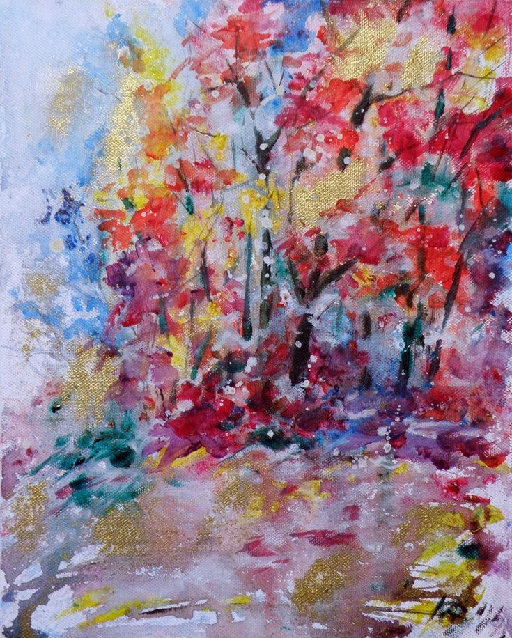 ARTFINDER: Autumn by Kovács Anna Brigitta - Original acrilyc painting on canvas board. I love landscapes, still life, nature and wildlife, lights and shadows, colorful sight. These things inspired me a...