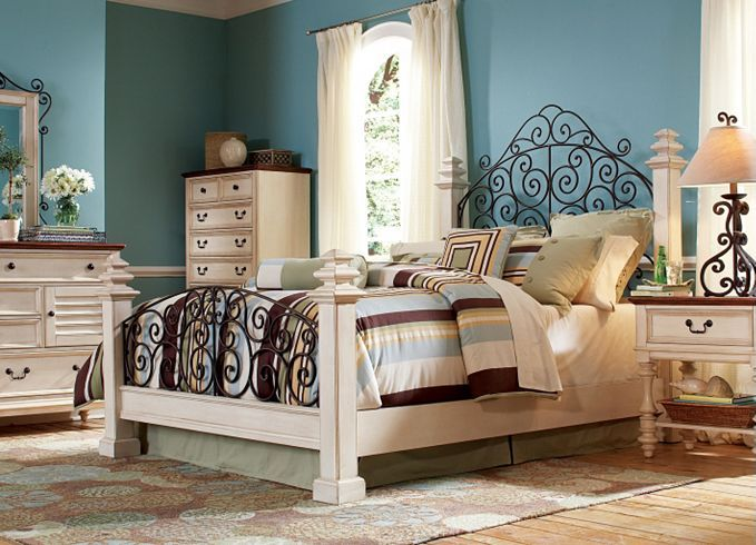 Bedroom Furniture, Southport Nightstand - Distressed White ...