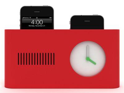 Toaster-inspired iPhone stand / alarm clock. Help fund it on http://www.kickerstarter.com!