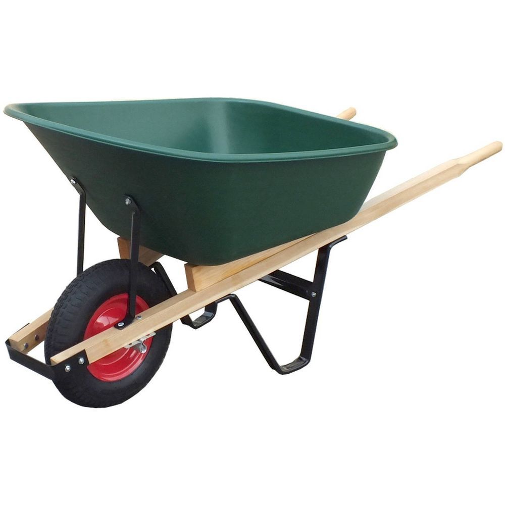 United General Durable 6 Cubic Feet Poly Tray Wheelbarrow Wood Handles Wh89695 Home Garden Yard Garden Outdoor Living Gardening Supplies Ebay