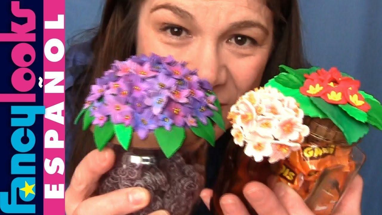 Cómo hacer Flores de goma Eva en tapas de tarros de vidrio reciclados |  Rosas en goma eva, Flor de paper, Espuma artesanal