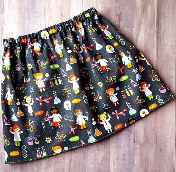TEEN Science skirt, science experiments skirt, back to school, first day of school, girls clothing, #firstdayofschooloutfits