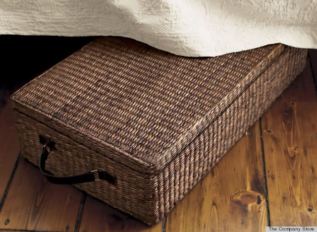 9 Ways To De Stress Your Living Room Under Bed Storage Boxes Contemporary Storage Boxes Wicker Basket With Lid